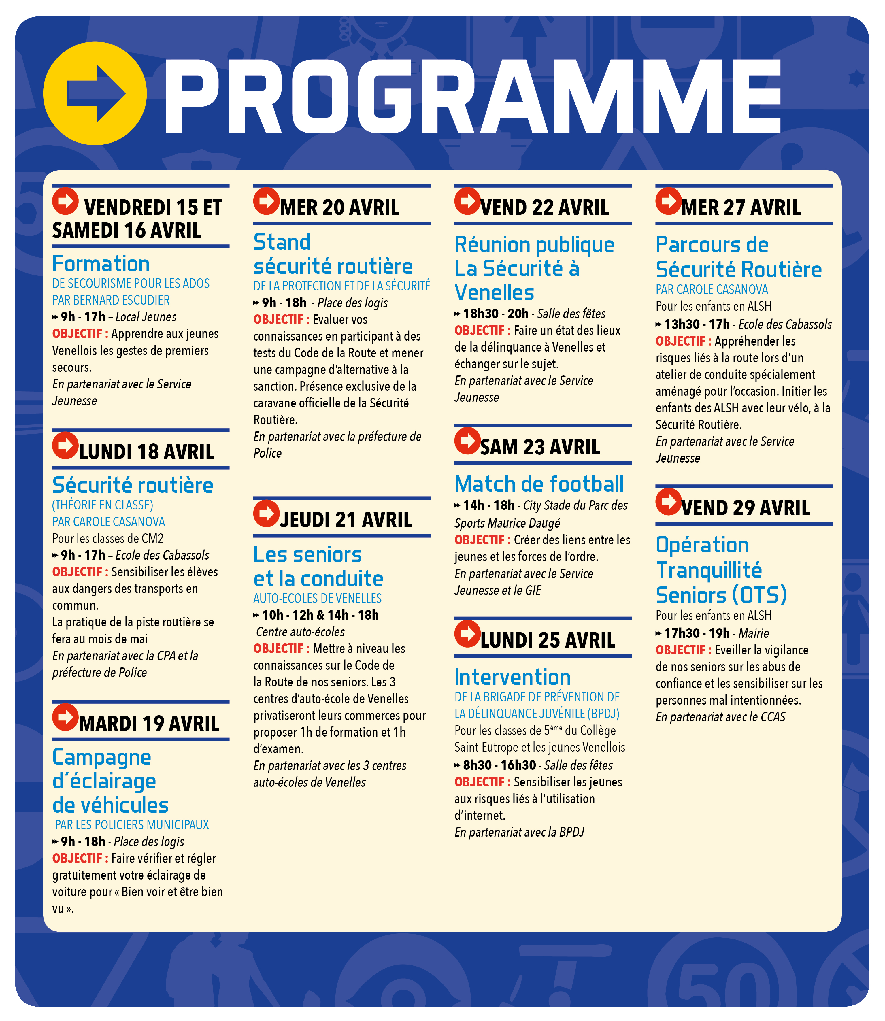 Programme Quinzaine sécurité