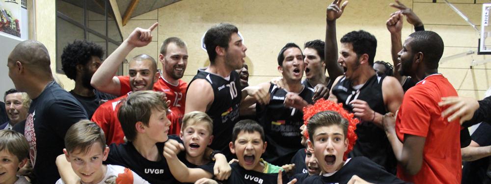 Photo de l'équipe de basket masculine national 3 du VBC avant gagné un match