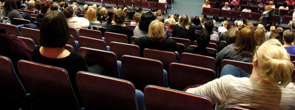 Photo d'une réunion publique