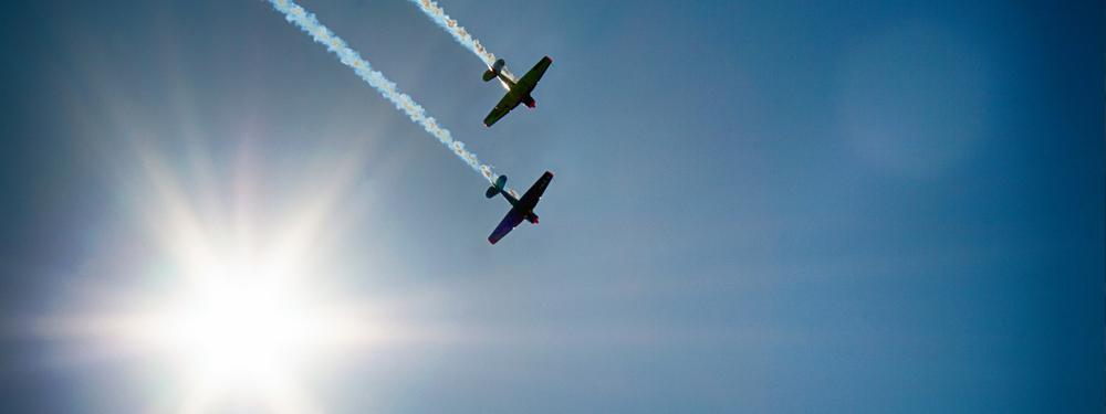 Photo d'avions dans le ciel
