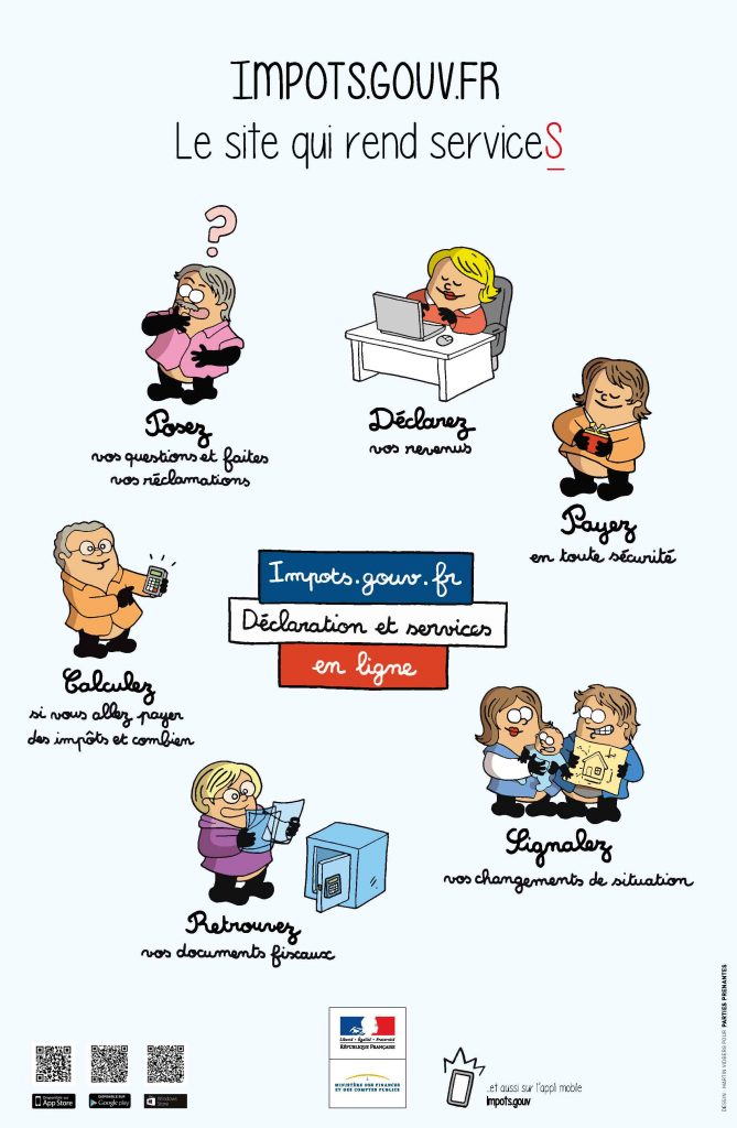 Affiche services-en ligne-web