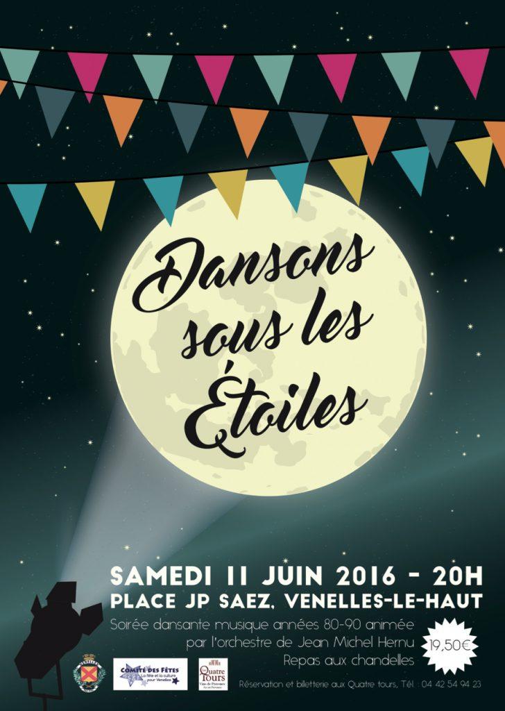 Affiche dansons sous les étoiles - Juin 2016
