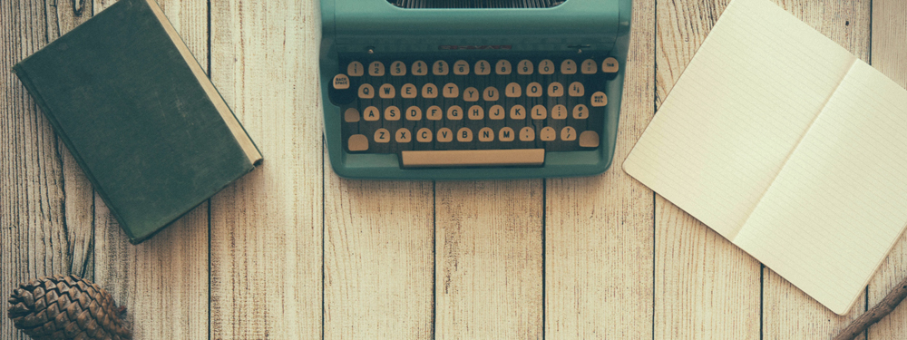Photo d'une machine à écrire vinage