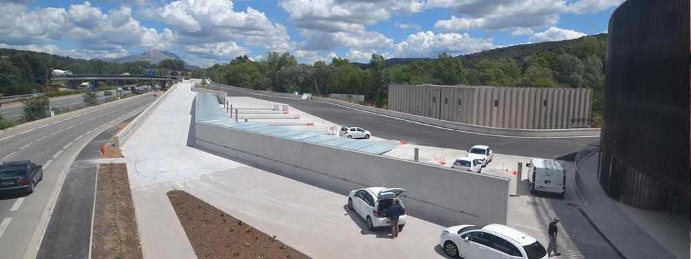 Photo de l'avancée de travaux du parking Relais Krypton