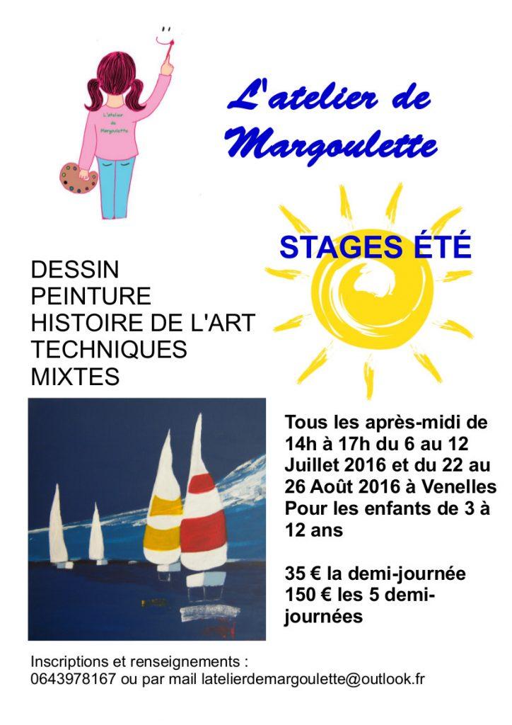 Affiche stage d'été Margoulette