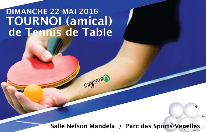 Affiche du tournoi de tennis de table du PPV
