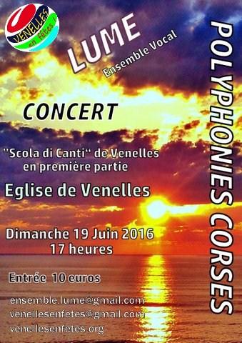 Affiche du concert LUME, polyphonies corses