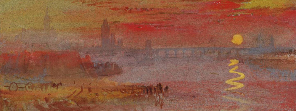 "Représentation du tableau du peintre William Turner ""The Scarlet Sunset"""