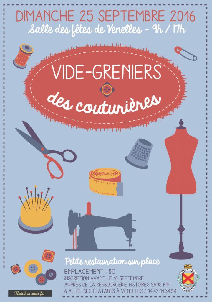 Affiche vide-greniers des couturières