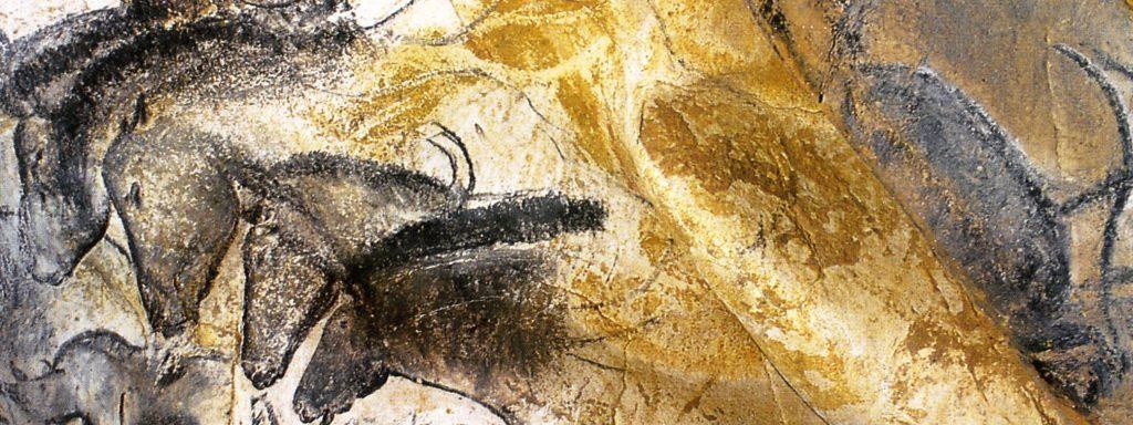 Peinture de chevaux dans la Grotte Chauvet