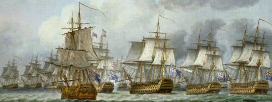 Reproduction de navires à l'assaut représentant la bataille de Dogger Bank