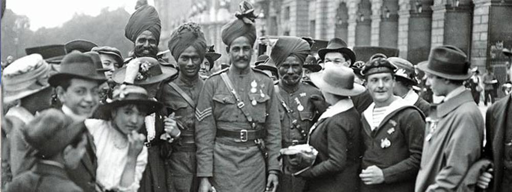 Photo d'époque de travailleurs de l'inde de 1916