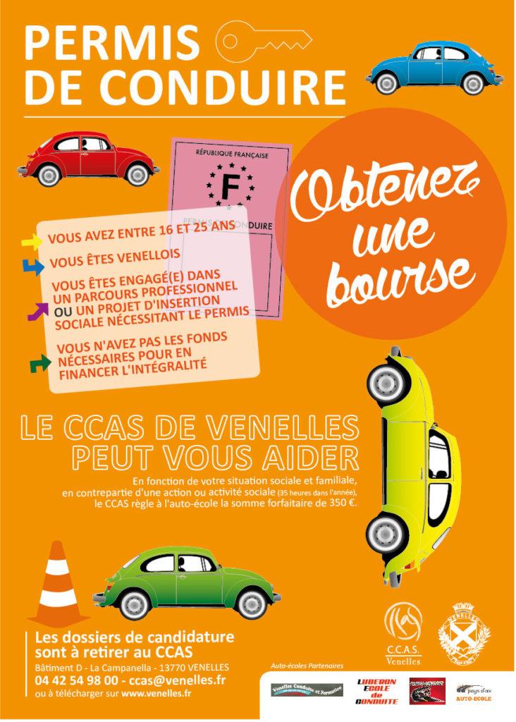Affiche bourse au permis de conduire
