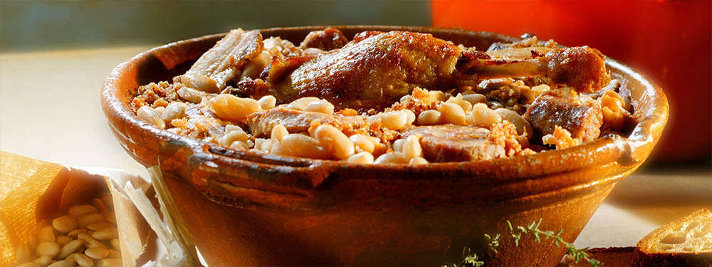 Photo d'un plat de cassoulet