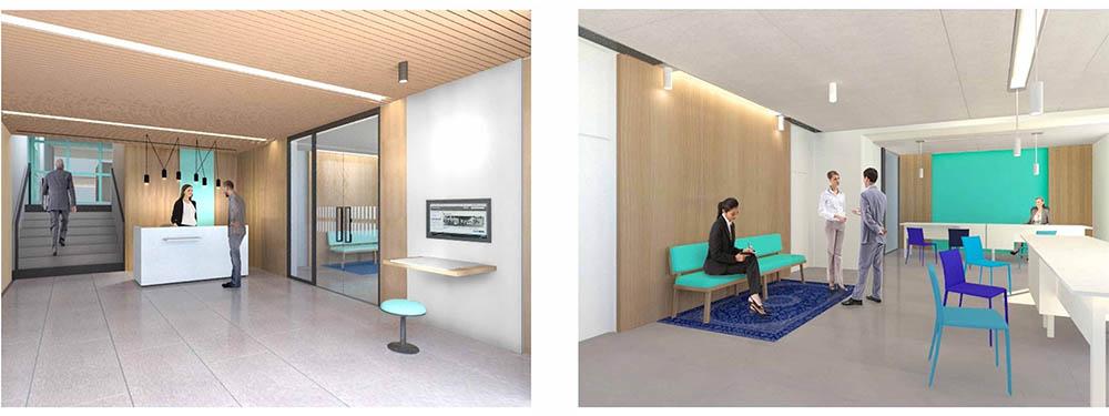 Vision 3D de la nouvelle entrée de la Mairie - vues après travaux