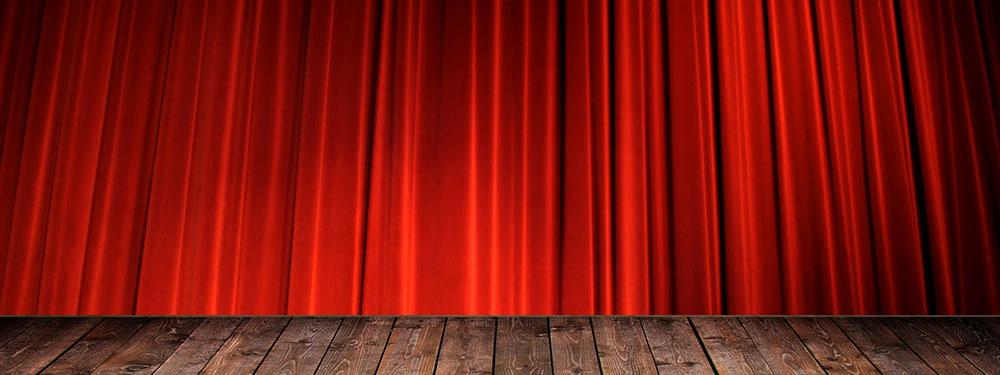 Photo d'un rideau rouge de théâtre