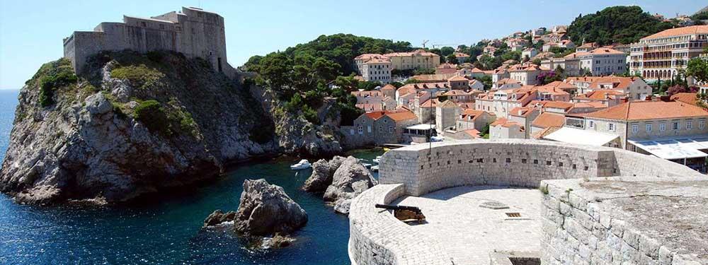 Photo d'une vue de Dubrovnic en Croatie