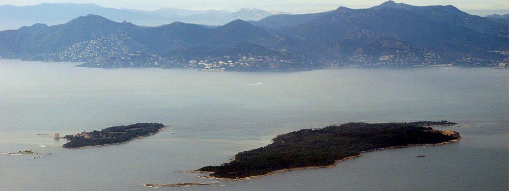 Photo d'une vue de l'Ile de Lérins