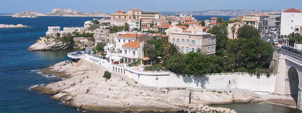 Photo d'une vue de Marseille, côté Corniche