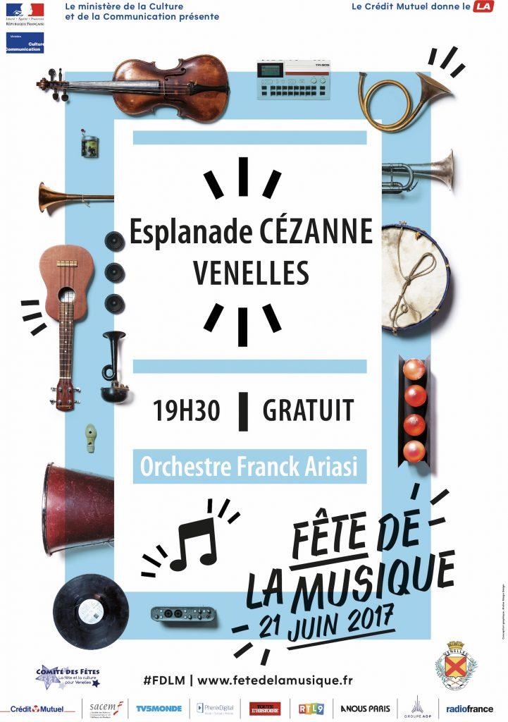 Affiche fête de la musique 2017