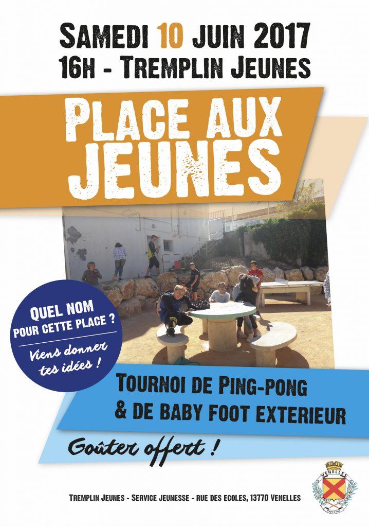 """Affiche inauguration de la """"place aux jeunes"""""""