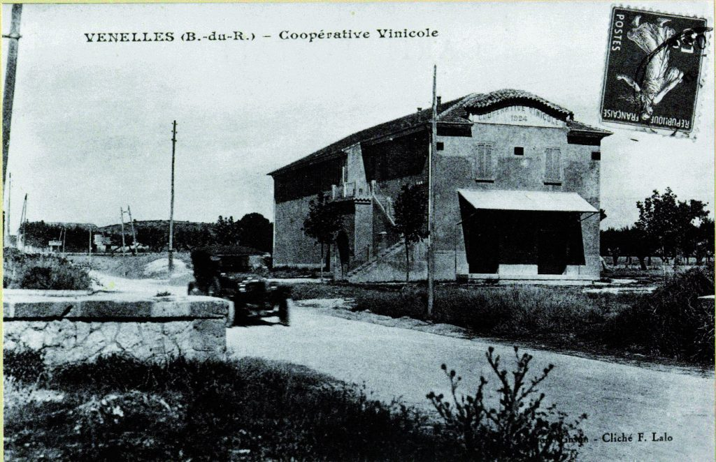 Photo ancienne de la cave coopérative viticole