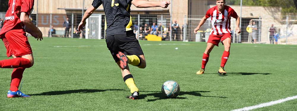 Photo d'un joueur de l'USV en pleine action