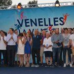Photo sur la scène des Venailes du sport 2017 de tous les médaillées, élus