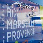 Photo montrant un flanc de bus de la métropole Aix Marseille Provence