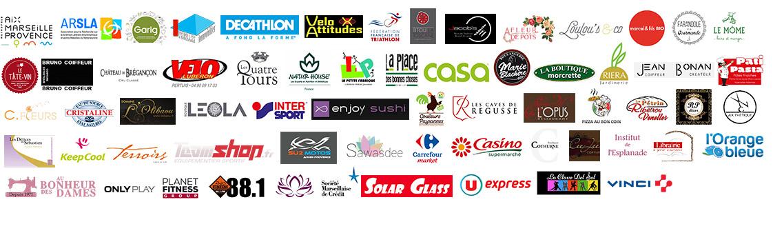 Liste de l'ensemble des partenaires du Triathlon de l'espoir