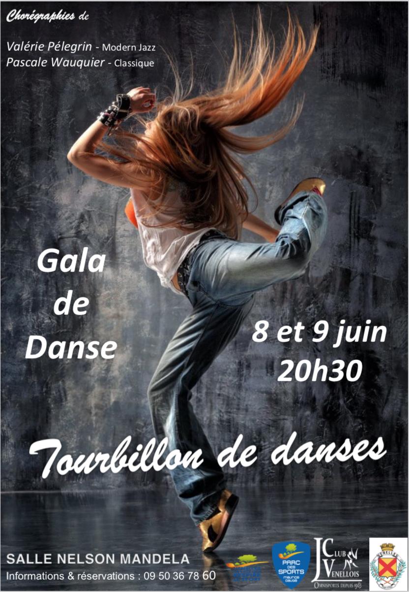 Affiche du gala de danse du Judo Club Venellois