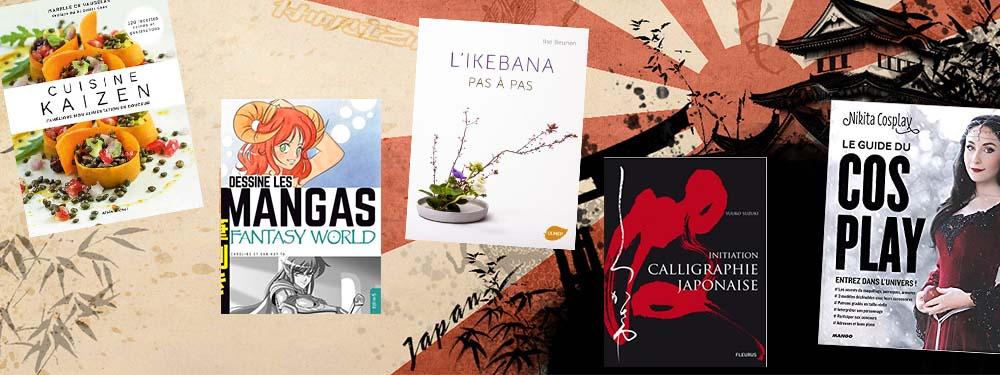 Sélection de livres spéciale japon de la médiathèque