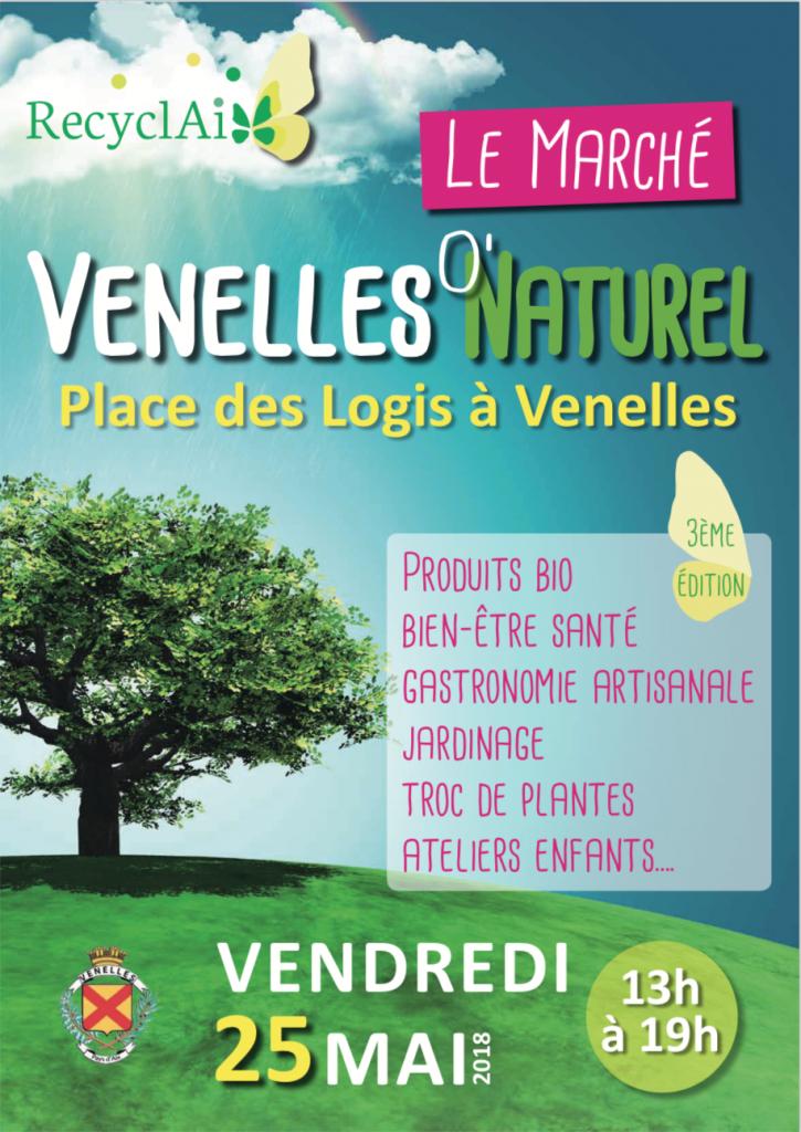 affiche du marché Venelles au naturel organisé par Recyclaix