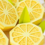 Photo de citron réalisé en paperart