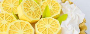 Photo de citron réalisé en paperart