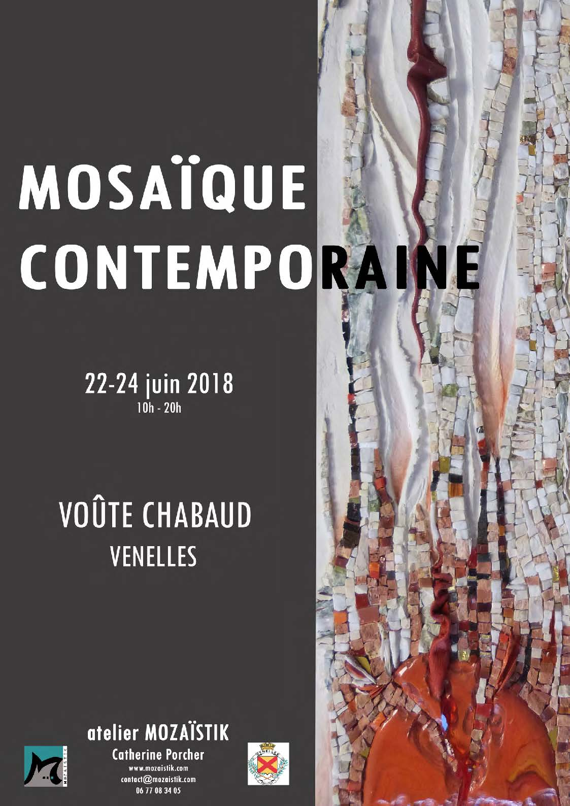Affiche expo mosaïque contemporaine