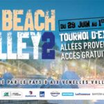 Affiche de la 2e édition du Aix Beach Volley