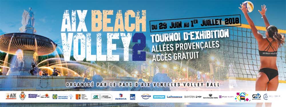 Affiche de la 2e édition du Aix Beach Volley