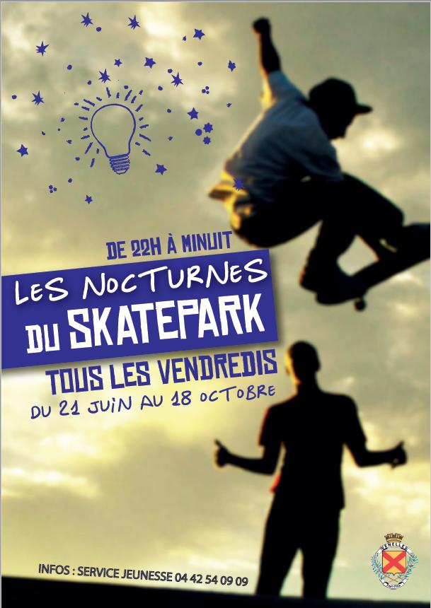 Affiche des nocturnes du skate park de Venelles