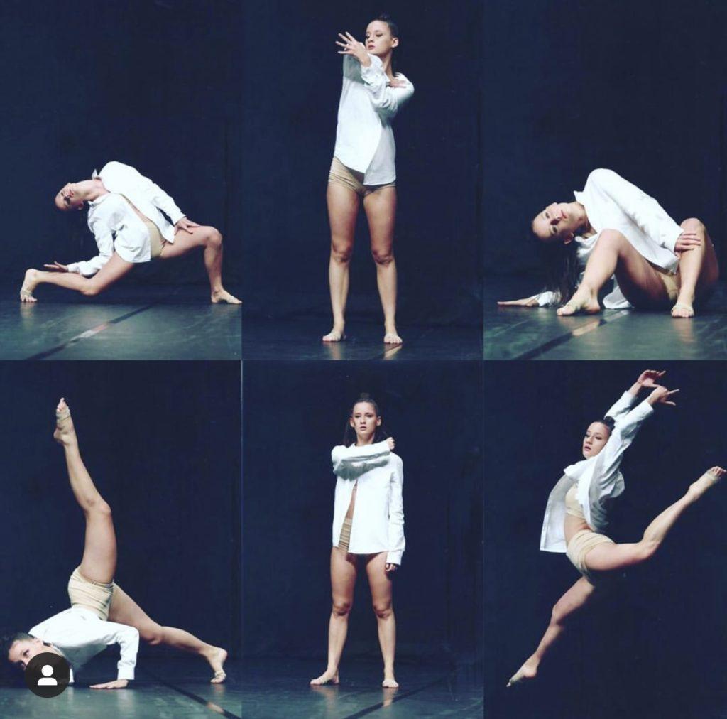 Chloé Vannier lors de son show à la Confédération Nationale de Danse 2020