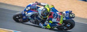 Photo de Freddy Foray en pleine course de moto