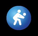 Picto montrant un bonhomme en train de jouer au volley (réception de balle)