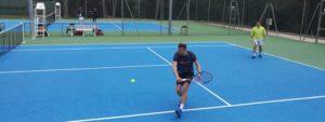 Photo montrant des tennisman de l'AVT en pleine action
