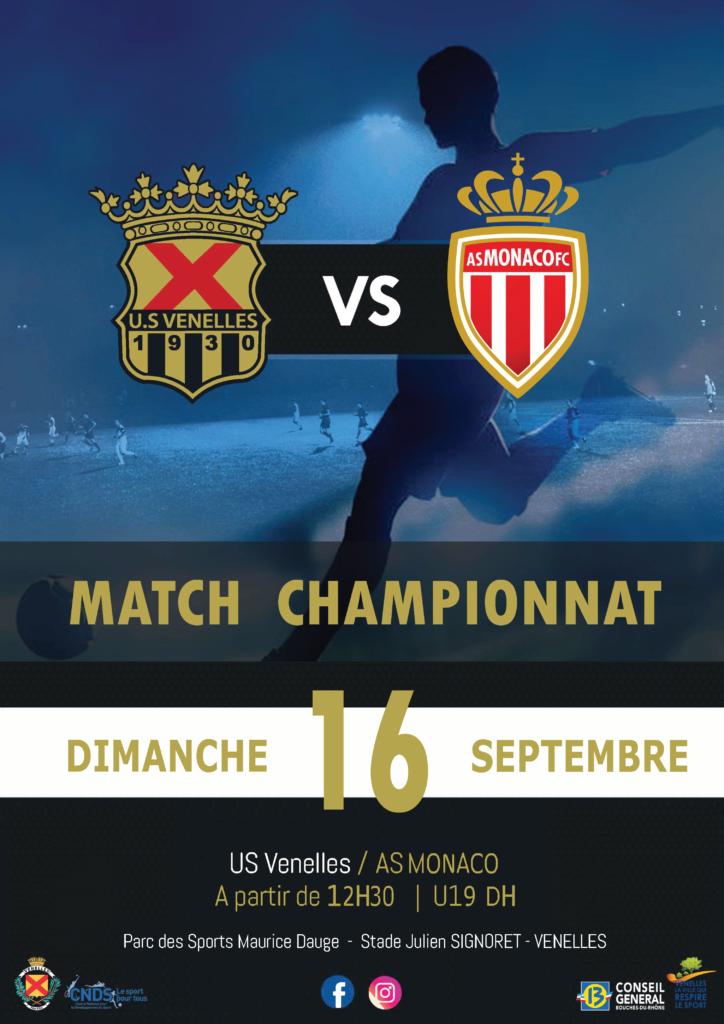 Affiche du match de foot USV / AS Monaco
