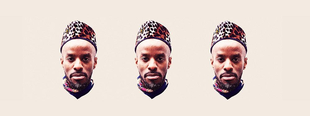 Photo représentant 3 têtes de l'artiste Jowee Omicil