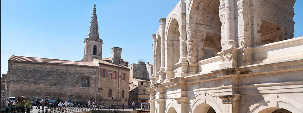 Photo de monuments de la ville d'Arles