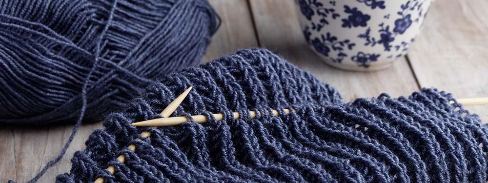 Photo d'un tricot en cours d'avancement