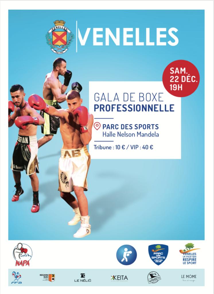 Affiche du gala de boxe professionnelle du NAPA