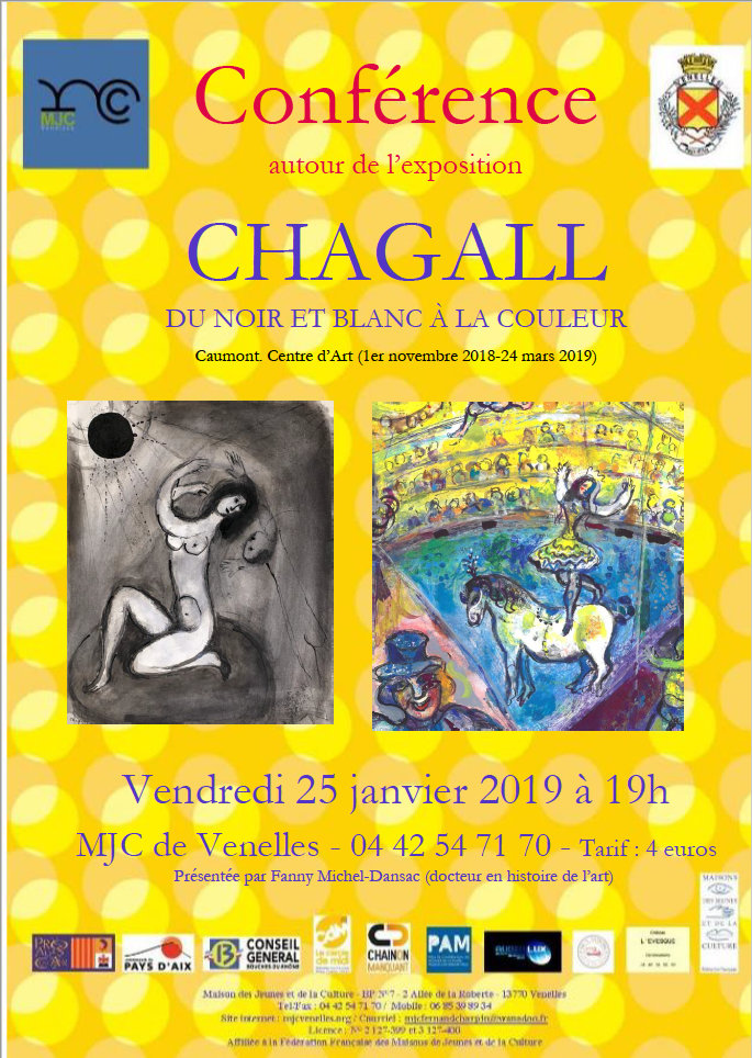 Affiche conférence Chagall - MJC