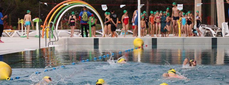 Photo de l'épreuve de natation du triathlon de l'espoir 2018